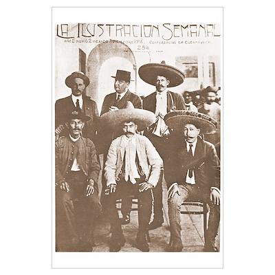 Emiliano Zapata Cover Mexican Revolution Print Poster
