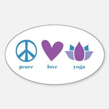 peace, love, yoga Sticker (Oval)