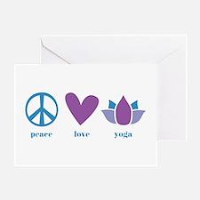 peace, love, yoga Greeting Card