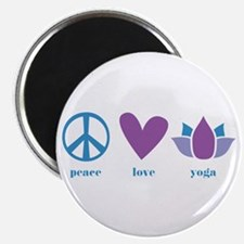 "peace, love, yoga 2.25"" Magnet (100 pack)"