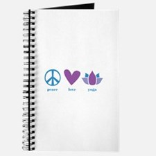 peace, love, yoga Journal