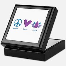 peace, love, yoga Keepsake Box