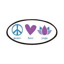 peace, love, yoga Patches