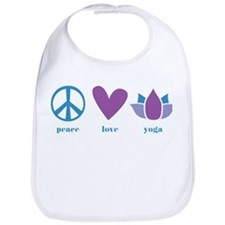 peace, love, yoga Bib