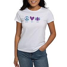 peace, love, yoga Tee