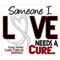 Needs A Cure 2 LUNG CANCER Poster