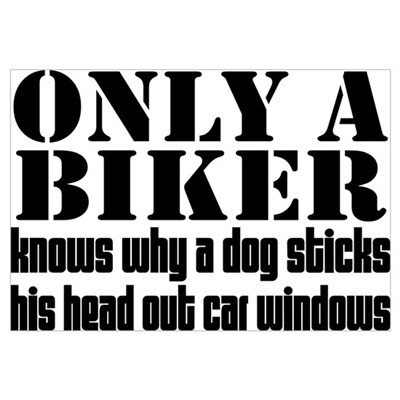 Only a Biker Framed Print