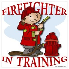 Firefighter In Training Framed Print
