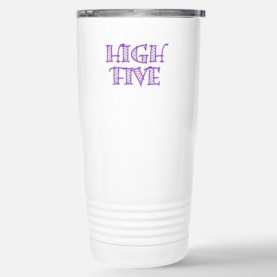 HighFive_Purple Stainless Steel Travel Mug