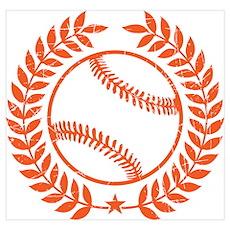 Cool Vintage Baseball Graphic Poster