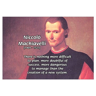 Political Theory: Machiavelli Framed Print