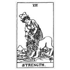 Strength Tarot Card Canvas Art