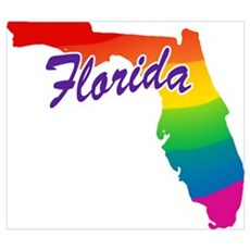 Gay Pride Rainbow Florida Poster