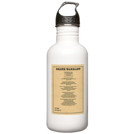 Hanging Judge Death Warrant Stainless Water Bottle