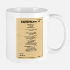 Hanging Judge Death Warrant Mug