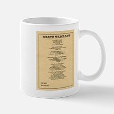 Hanging Judge Death Warrant Small Small Mug
