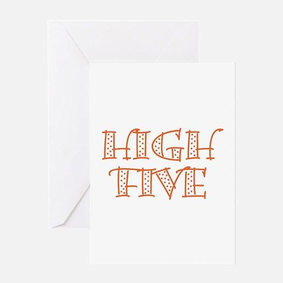 HighFive_Orange Greeting Card