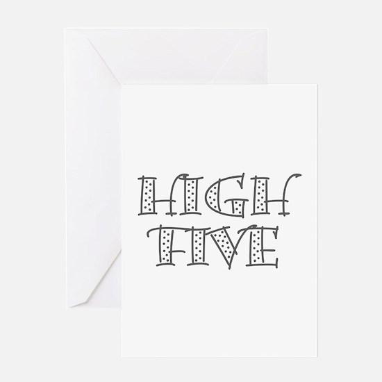 HighFive_Gray Greeting Card