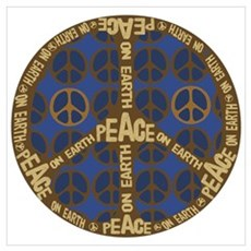 Peace Sign Peace on Earth Poster
