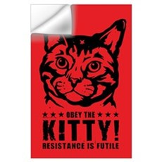 Obey the KITTY! Cat Revolution Wall Decal