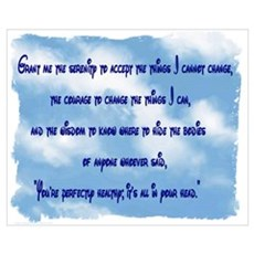 Serenity Slogan (clouds) Poster