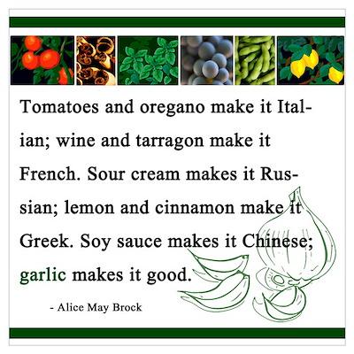 """Garlic Makes it Good"" Poster"