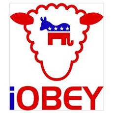 Red Sheeple Obey Poster