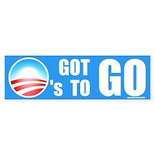 O's Got To Go Bumper Bumper Sticker