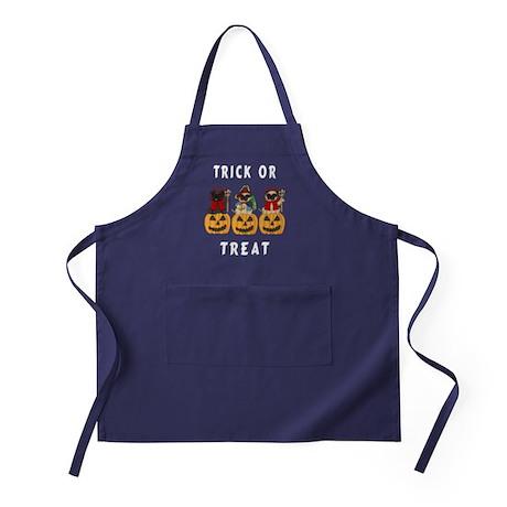Halloween Trick or Treat Pugs Apron (dark)