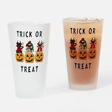 Halloween Trick or Treat Pugs Drinking Glass