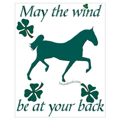 Saddlebred and Shamrocks Poster