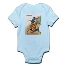 Wild West Gunfire, Horse & Dog Infant Bodysuit