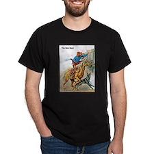Wild West Gunfire, Horse & Dog T-Shirt