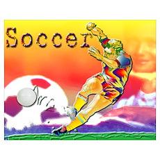 Soccer & Learning Poster