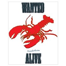 Lobster Wanted Alive Poster