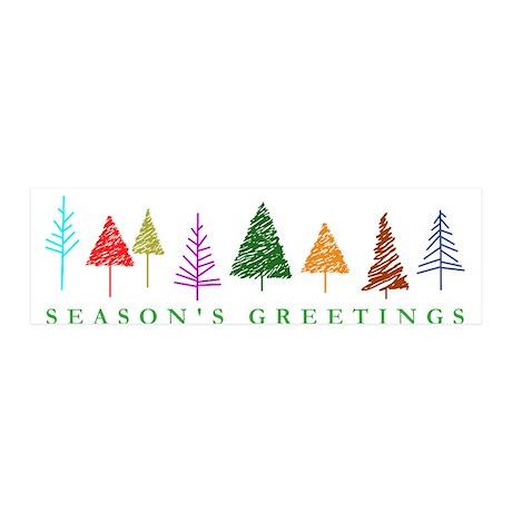 Christmas Trees 42x14 Wall Peel