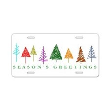 Christmas Trees Aluminum License Plate