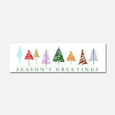 Christmas Trees Car Magnet 10 x 3