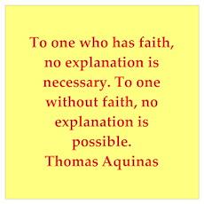 Saint Thomas Aquinas Poster