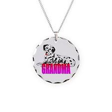 Dalmatian Grandma Necklace Circle Charm