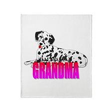 Dalmatian Grandma Throw Blanket