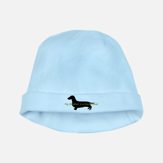 My Brother is a Dachshund baby hat