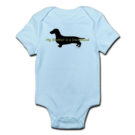My Brother is a Dachshund Infant Bodysuit