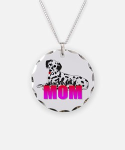 Dalmatian Mom Necklace Circle Charm