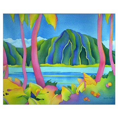 Vibrant Day in Hawaii Canvas Art