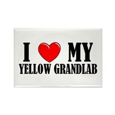 Yellow Grandlab Rectangle Magnet