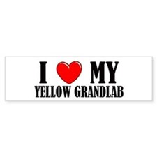 Yellow Grandlab Bumper Bumper Sticker