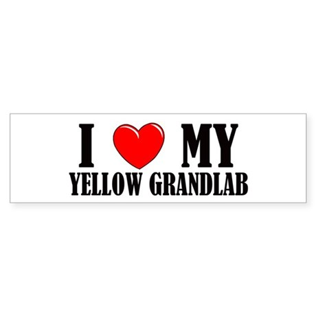 Yellow Grandlab Bumper Sticker