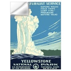 1930s Vintage Yellowstone National Park Framed Pan Wall Decal