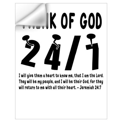 Think of God - Jeremiah 24:7 Wall Decal